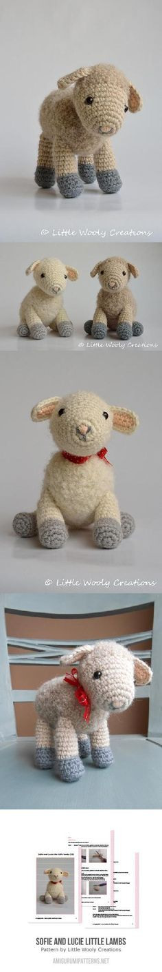 Found at Amigurumipatterns.net soft vintage retro style crochet plushie easter lamb to make