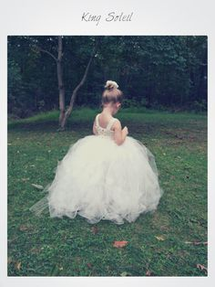 Flower Girl Tutu Dress Silk Crochet Bodice and Rose by KingSoleil, $170.00