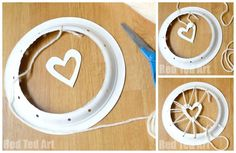 Paper Plate Dream Catcher with Heart