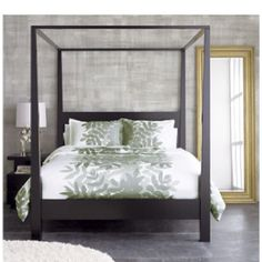 Crate & Barrel four poster bed