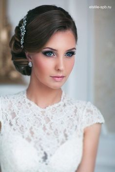 Incredible Long Wedding Hairstyles and Bridal Updo Hairstyles for Long Hair from elstile-spb / www.deerpearlflow… The post Long Wedding Hairstyles and Bridal Updo Hairstyles for Long Hair from elstile-sp… appeared first on New Hairstyles . Side Hairstyles, Wedding Hairstyles For Long Hair, Wedding Hair And Makeup, Bridal Makeup, Hair Makeup, Bridal Beauty, Elegant Wedding Hairstyles, Classic Updo Hairstyles, Bridal Lipstick