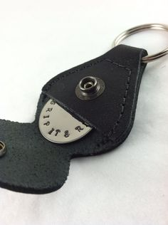 Golf ball marker and keychain leather case by LisaJoysDesigns, $25.00