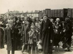 Jewish women and children on the selection platform