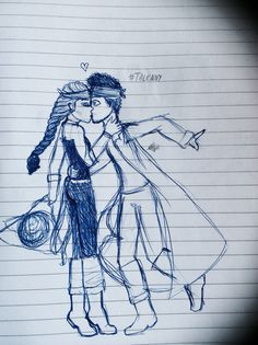 Yes, this is my pirate themed Talenny Kiss. Pen sketch by: Bèa Stark
