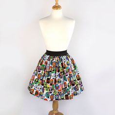 Lucha Libre Luchador Folklorico Day of the Dead Full Skirt by VintageGaleria on Etsy https://www.etsy.com/listing/155802133/lucha-libre-luchador-folklorico-day-of