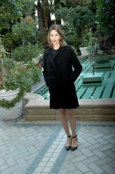 Sofia Coppola in a perfect little coat