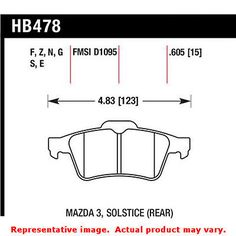 Hawk DTC (Dynamic Torque Control) Brake Pads HB478G.605 DS Fits:CHEVROLET  2007