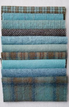 Tartan and tweed - Isle of Sky Blue Plaids Tartan Plaid, Blue Plaid, Tartan Fabric, Wool Fabric, Blue Wool, Wooly Bully, Stoff Design, Scottish Tartans, Style Retro