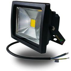 Foco Led COB PREMIUM 20w Luz Fria 6000ºK Proyector Profesional Impermeable IP65,  Reflector Chip Bridgelux para exterior