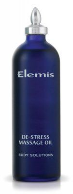 Elemis Elemis De-Stress Massage Oil by Elemis. $42.00. Save your skin and senses from undue stress with Elemis De-Stress Massage Oil. The lightweight massage oil blends Sweet Almond, Lavender, and Grapefruit to smooth comfortably onto skin for a refreshing and reviving treatment every time..... Save 19% Off!