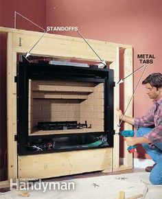 Building A Fireplace For An Electric Insert How To Install A Gas Fireplace The Family Handyman