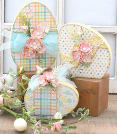 Shop our unique selection of scrapbook mini albums, scrapbook layouts, handmade cards, paper and wood decor craft kits. Visit our gallery for the latest scrapbooking layout and mini album ideas. Hoppy Easter, Easter Bunny, Easter Eggs, Easter Table, Easter Party, Easter Egg Crafts, Easter Projects, Easter Ideas, Spring Crafts