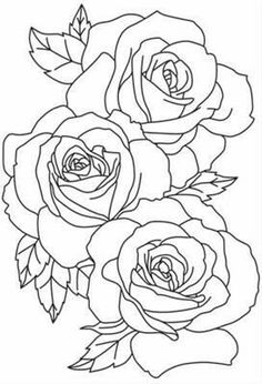 Draw Rose flower outline tattoos Rose Outline Tattoo Stencil Line Art Rose Outline Drawing, Flower Outline Tattoo, Outline Drawings, Rose Drawings, Rose Tattoo Stencil, Rose Drawing Tattoo, Rose Stencil, Tattoo Design Drawings, Paper Embroidery