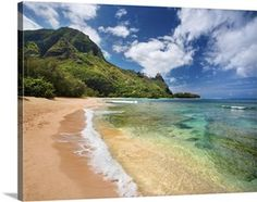 Hawaii, Kauai, North Shore, Tunnels Beach, Bali Hai Point tropical canvas print via @greatbigcanvas available at GreatBIGCanvas.com.