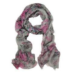 Amazon.com: Premium Soft Viscose Flower Print Scarf, Blue: Clothing $7.99