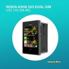 ¡El Nokia Asha 503 dual sim Negro está de oferta! Encontralo en: http://celulares.com.uy/celulares/nokia/asha-503-dual-sim-negro y convencete: ¡es lo que estás buscando!