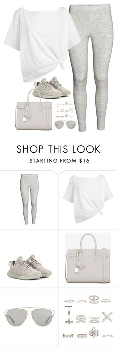 """Untitled#4512"" by fashionnfacts ❤ liked on Polyvore featuring Red Herring, adidas Originals, Yves Saint Laurent, Christian Dior and New Look"