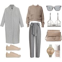 Grey and Camel by fashionlandscape on Polyvore featuring moda, Joseph, Whistles, Eres, adidas, Chloé, Topshop, 3.1 Phillip Lim and Christian Dior