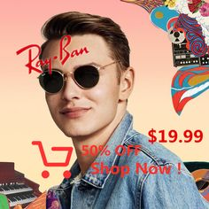 Woodstock spirit // Ray-Ban Round glasses embody the spirit of free thinkers, beat poets and jam bands of the // Wayfarer Sunglasses, 21 Day Fix, Ray Bans, Projects To Try, Boards, Baby Shower, Birthday, Driveways, Amigurumi