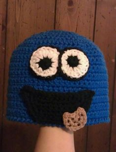 Coockie Monster Beanie by CreativeHooking on Etsy, $29.00