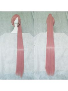 Vocaloid Akita Neru Rouge Pink Long Cosplay Wigs with 120cm Ponytail  Hair Style: Short, Ponytail Wigs  Role: Akita Neru  Material: High Temperature Heat Resistant Synthetic Fibre ( Freely Shape, Heat Resistant up to 180°)  Length: 35cm (13.78) + 120cm split type ponytail hair extension ( Length tolerance ±3cm)  Color: Rouge Pink  Occasion: Custumes, Cosplay, Holiday, Party $19.98
