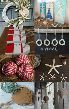christmas by the sea --Pinned with TreasuryPin.com.  I love the ocean + Christmas!  #verymerrymodachristmas