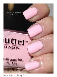 I neeed this colour in my life Teddy Girl   butter LONDON #babypink #nailpolish