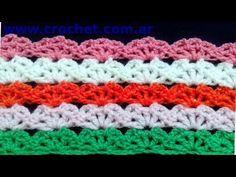 Punto fantasía Nº 72 en tejido crochet tutorial paso a paso. - YouTube