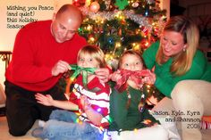 My family's 2008 card. It's my favorite one. Funny Christmas Cards, Christmas Photo Cards, 12 Days Of Christmas, Christmas Photos, Christmas Humor, Kids Ties, Girl Tied Up, Silent Night, Holiday Ideas