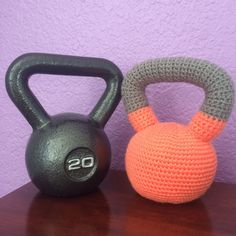 Crochet Kettlebell by BabyBellCrafts on Etsy https://www.etsy.com/listing/259382003/crochet-kettlebell
