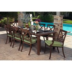 Costco Portofino Signature 7 Piece Patio Dining Set For The Home Pintere