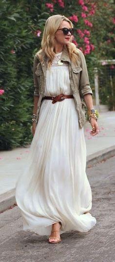 Style it...love the flowing dress look.
