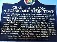 Grant Alabama ~ visited this little town for the first time on March 13, 2016 while on a camping trip to Lake Guntersville, State Park.