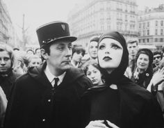 """Jean Rochefort and Dorothy McGowan in """"Who Are You, Polly Maggoo?"""" by William Klein, 1966."""