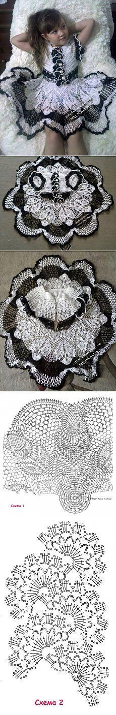 Ажурное платье для девочки 6 лет - вязание крючком на kru4ok.ru