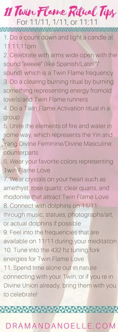 Twin Flame 1111 Rituals | For Magic and Manifestation on 11/11/17 – DR AMANDA NOELLE