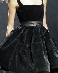 Lanvin black velvet