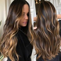 Details about 100 Brazilian Virgin Human Hair Wigs Ombre Balayage Full Lace Lace Front Wigs – Style Tips Brown Ombre Hair, Brown Hair Balayage, Brown Hair With Highlights, Brown Blonde Hair, Ombre Hair Color, Light Brown Hair, Hair Color Balayage, Brunette Hair, Auburn Balayage