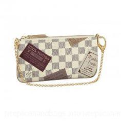 Louis Vuitton Damier Azur Canvas Handbag Ebony LV N63080($160.99)