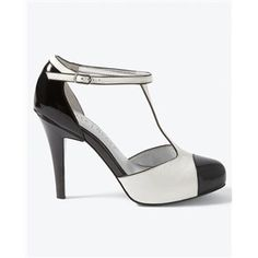 Womens Leather Spectator T-Strap Heel by White House Black Market