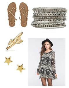 """Boho gold"" by whittykitty92 ❤ liked on Polyvore featuring Blu Pepper, Billabong, Bling Jewelry and SonyaRenée"