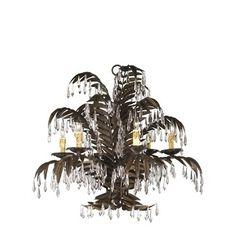 Cyan Designs Largo Six Light Chandelier in Golden Antiqua