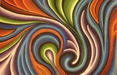 Organic Swirl, Painting,  Acrylic on Canvas,  36x24, 2012