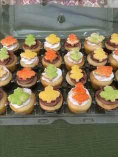 Fall Leave Cupcakes