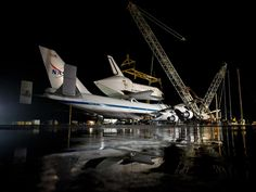NASA - Space Shuttle Discovery Readied for Demate