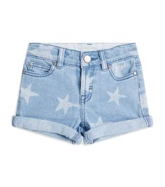 Stella Mccartney Kids' Star Motif Denim Shorts In Blue Harrods, Diy Shorts, Painted Jeans, Blue Jean Shorts, Stella Mccartney Kids, Teen Fashion Outfits, Cute Casual Outfits, Star Print, Cotton Shorts
