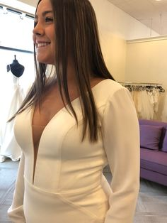 Simple, clean, and elegant. Classic Wedding Dress, Wedding Dresses, Wear Store, Bridal And Formal, Formal Wear, Tuxedo, Special Occasion, Bodycon Dress, Bridesmaid