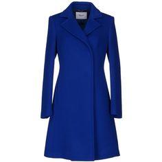 BLUGIRL BLUMARINE Coat (38.300 RUB) ❤ liked on Polyvore featuring outerwear, coats, jackets, blue, coats & jackets, bright blue, single breasted coat, blue coat, blugirl and long sleeve coat
