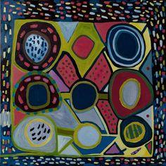 ©2012 Ellen Soffer. Nine Circles. Oil on linen, 24 x 24 inches