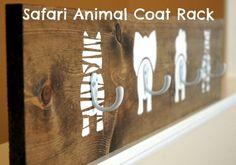 Safari Animal Coat Rack Holder